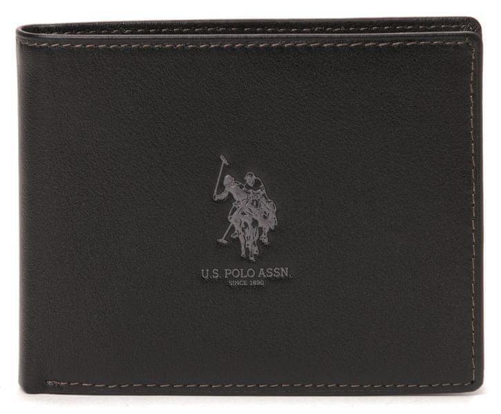 U.S. Polo Assn. pánská peněženka uni šedá