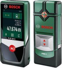 Bosch zesatw dalemierz PLR 50 C + detektor PMD 7 (0603672221 + 060368112)