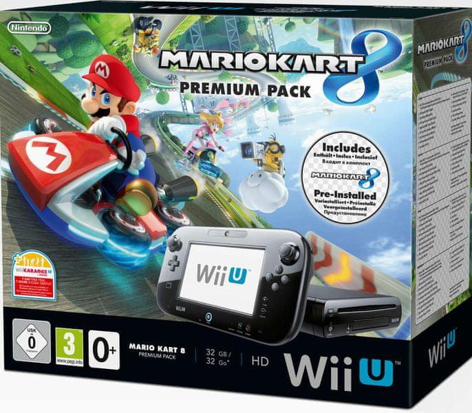 Nintendo WiiU premium pack + Mario Kart 8