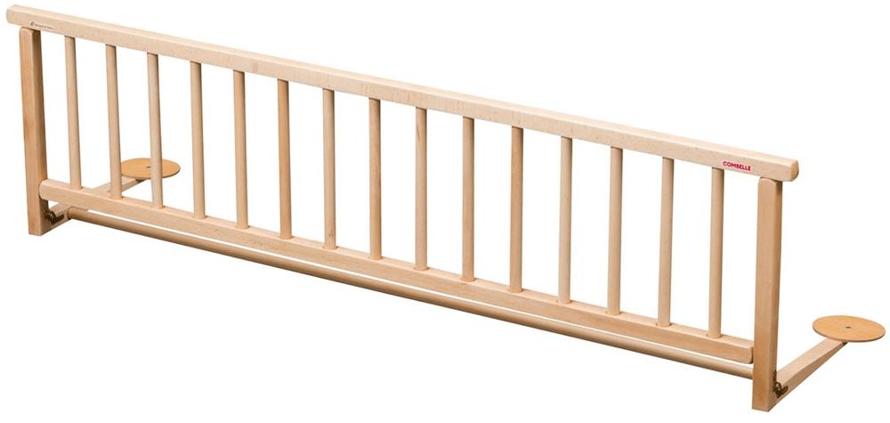 COMBELLE Dřevěná zábrana k posteli přírodní