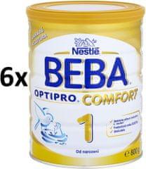 Nestlé BEBA OPTIPRO Comfort 1 dojčenské mlieko - 6x800g
