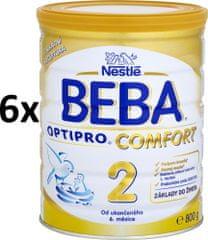 Nestlé BEBA OPTIPRO Comfort 2 kojenecké mléko - 6x800g