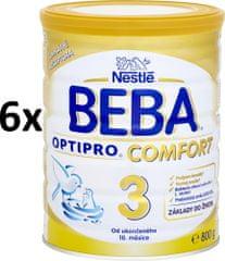 Nestlé BEBA OPTIPRO Comfort 3 kojenecké mléko - 6x800g