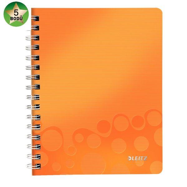 Blok na psaní Leitz WOW A5 linkovaný metalicky oranžový