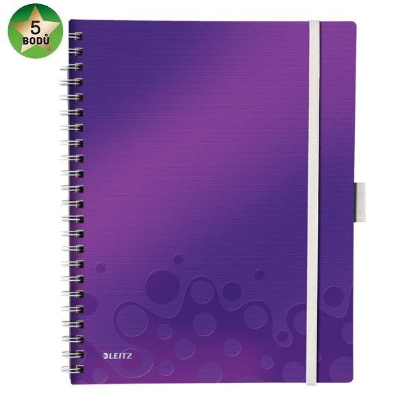 Blok mobilní Leitz WOW A4 čtverečkovaný purpurový