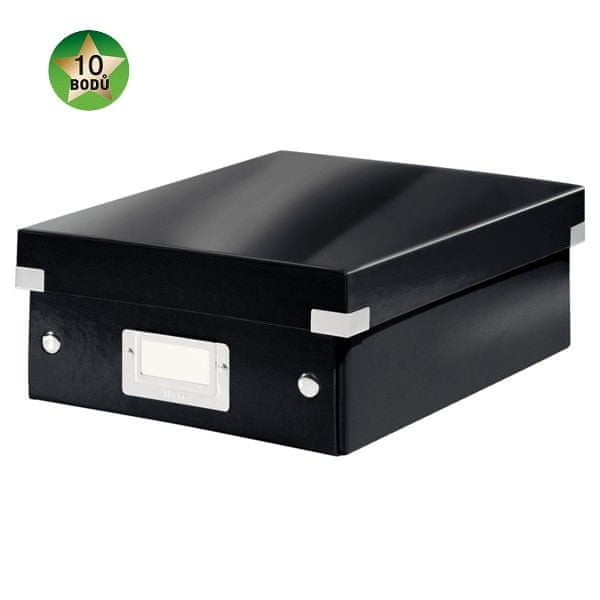 Krabice CLICK-N-STORE WOW malá organizační, černá