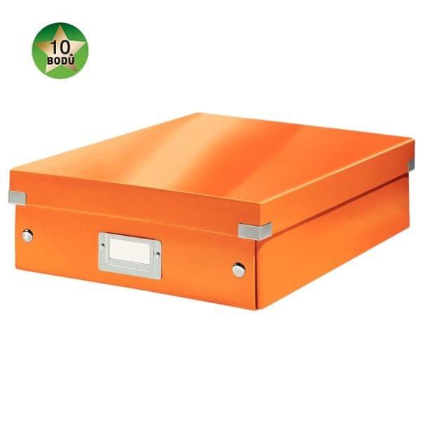Krabice CLICK-N-STORE WOW střední organizační, oranžová
