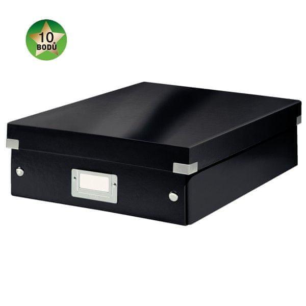 Krabice CLICK-N-STORE WOW střední organizační, černá