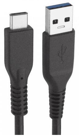 Fontastic datový kabel ESSENTIAL, USB-C 3.1, 80cm, černý