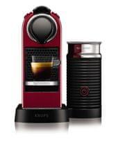 NESPRESSO ekspres kapsułkowy Krups XN760510 Nespresso Citiz& Milk Red