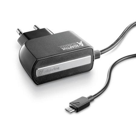 CellularLine cestovní rychlonabíječka ADAPTIVE FAST s konektorem microUSB, 5V/9V, 15W