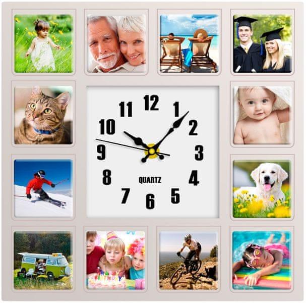 Time Life Nástěnné hodiny s fotorámečky (TL-124)