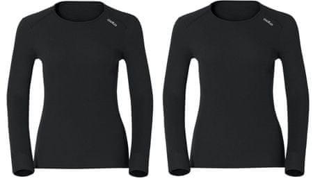 ODLO set majic Warm, dolg rokav, ženski, črn, S