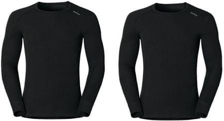 ODLO set majic Warm, dolg rokav, moški, črn, XL
