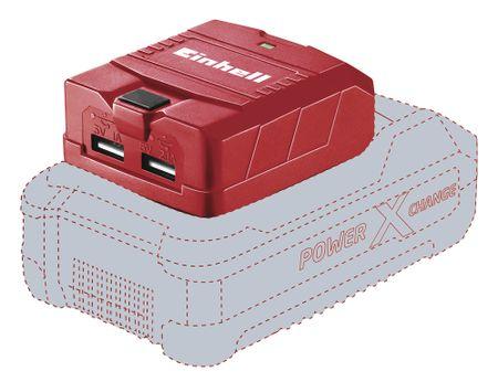 Einhell prenosni USB adapter za PXC baterijo TE-CP 18 Li USB-Solo, brez baterije in polnilca