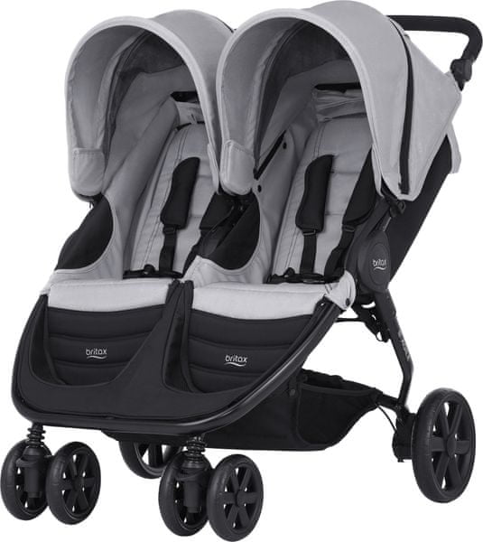 Britax B-AGILE DOUBLE 2017, Steel Grey