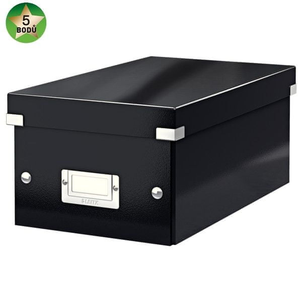 Krabice CLICK-N-STORE na DVD, černá