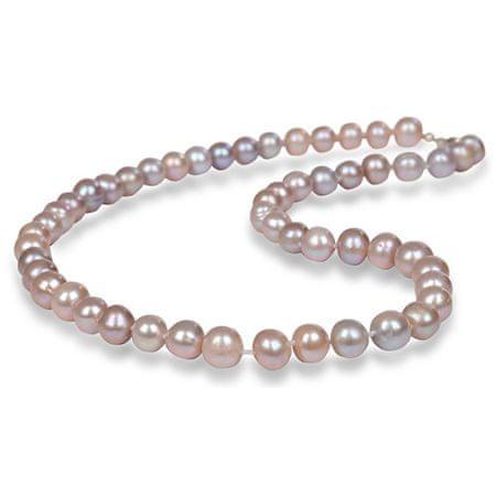 JwL Jewellery Náhrdelník s pravými růžovými perlami JL0266 stříbro 925/1000