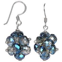 JwL Jewellery Žiarivé náušnice z brúsených svetle modrých kryštálov JL0271 striebro 925/1000