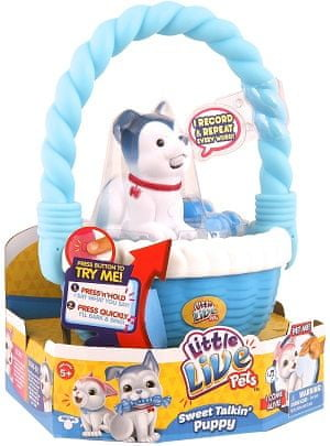 Little Live Pets kuža v košari Bone Go S2