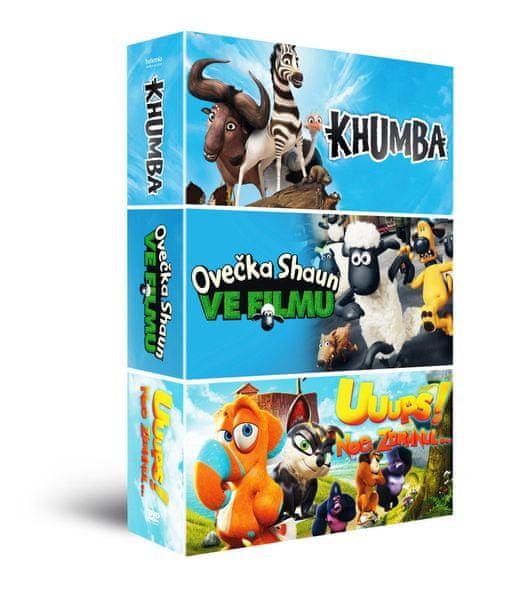 Animáky kolekce II. (3DVD): Ovečka Shaun + Khumba + Uuups! Noe zdrhnul… - DVD