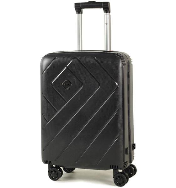 REAbags Palubní kufr Rock Shield S černá