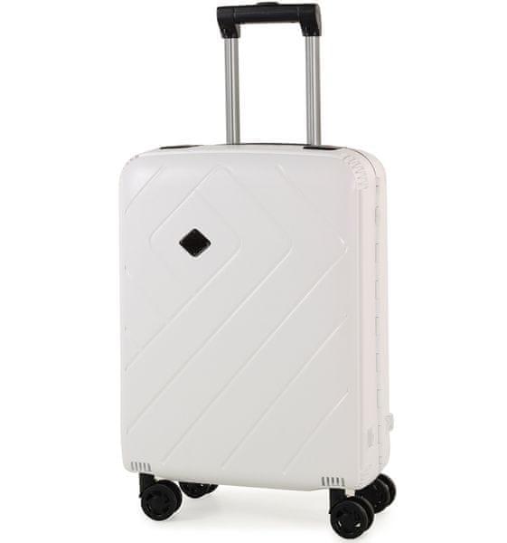 REAbags Palubní kufr Rock Shield S bílá