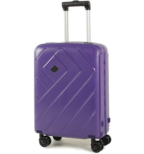 REAbags Palubní kufr Rock Shield S fialová