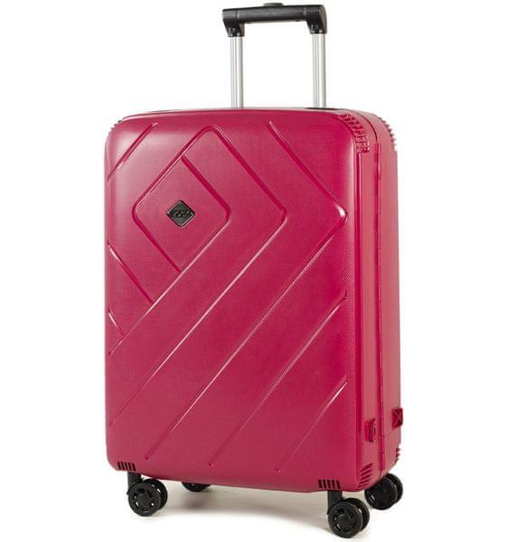 REAbags Cestovní kufr Rock Shield M růžová