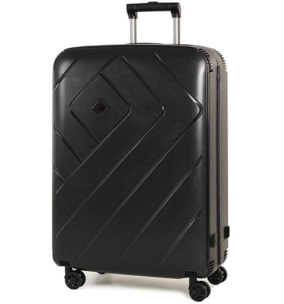 REAbags Cestovní kufr Rock Shield L černá