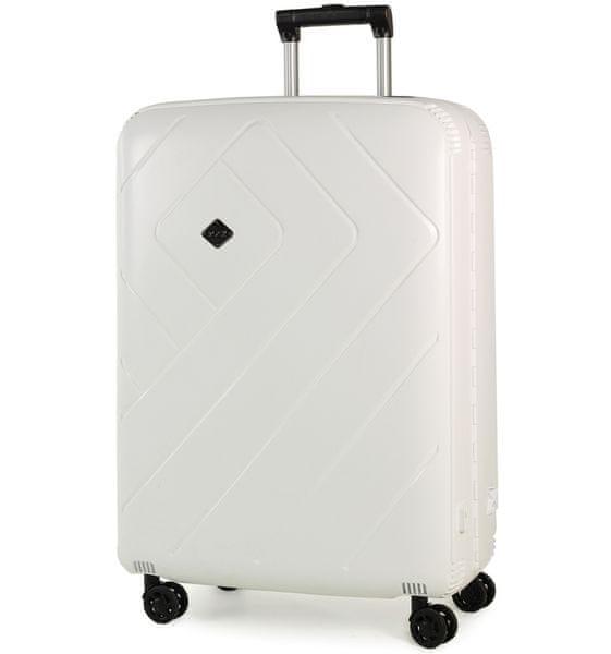REAbags Cestovní kufr Rock Shield L bílá