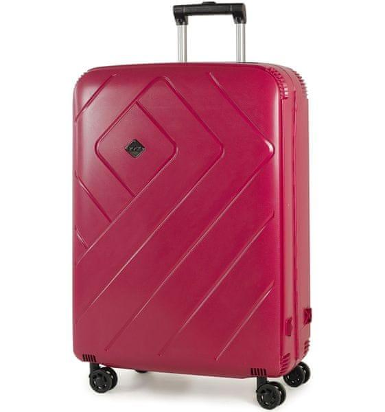 REAbags Cestovní kufr Rock Shield L růžová