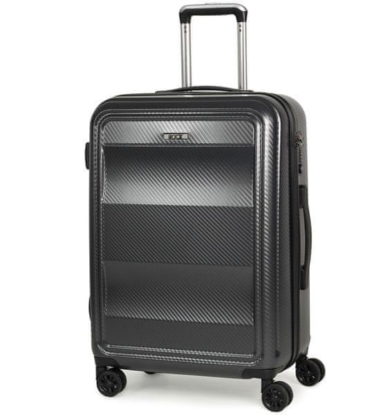Rock Cestovní kufr Amethyst M, antracitová