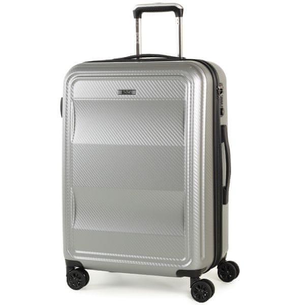REAbags Cestovní kufr Rock Amethyst M stříbrná