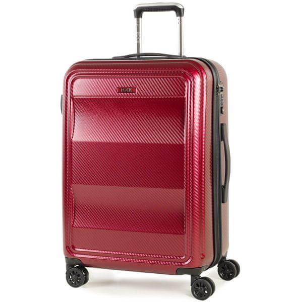 REAbags Cestovní kufr Rock Amethyst M červená