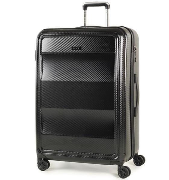 REAbags Cestovní kufr Rock Amethyst L černá