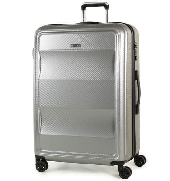 REAbags Cestovní kufr Rock Amethyst L stříbrná