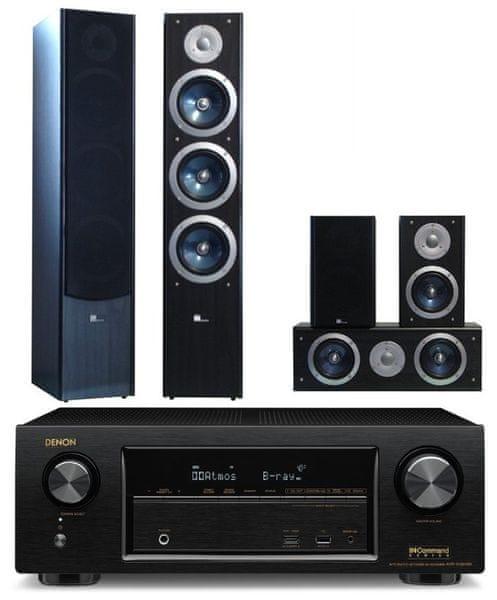 Denon AVR-X1300W + Pure Acoustics XTI 100 set