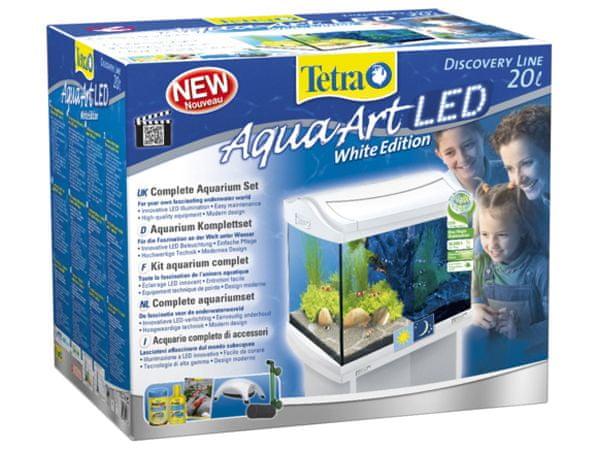 Tetra AquaArt akvárium set LED bílý 20l