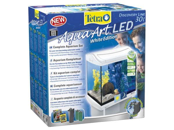 Tetra AquaArt akvárium set LED bílý 30l - rozbaleno