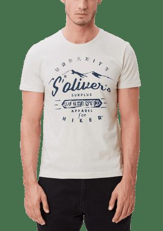s.Oliver pánské tričko L smetanová