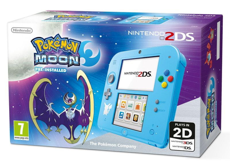 Nintendo 2DS Pokemon Edition + Pokemon Moon