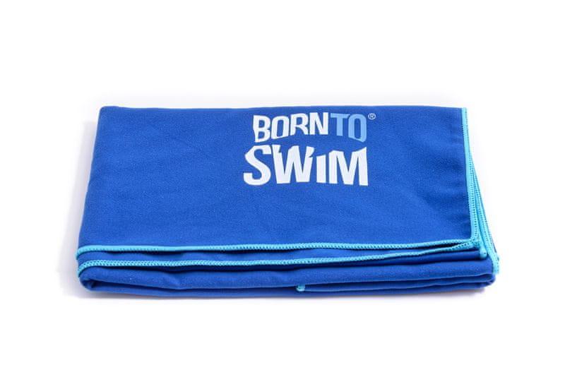 Born To Swim Rychleschnoucí ručník z mikrovlákna - modrý (70x140 cm)