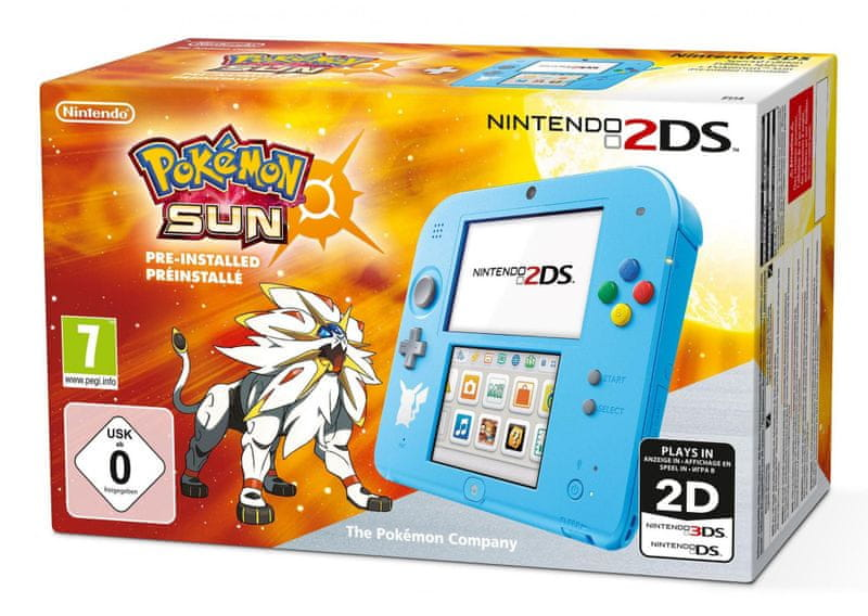 Nintendo 2DS Pokemon Edition + Pokemon Sun
