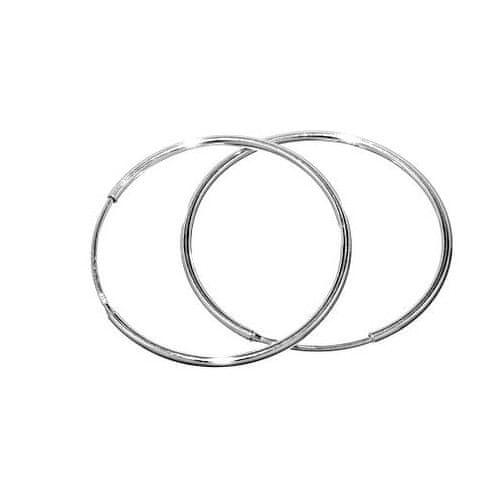 Silvego Stříbrné náušnice kruhy 30 mm BMBE30 stříbro 925/1000