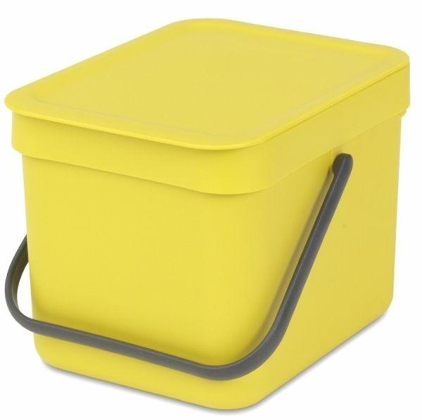 Brabantia Koš Sort & Go 6 l žlutá