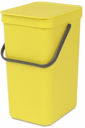 Brabantia kosz na śmieci Sort&Go, 12 l, żółty