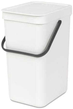 Brabantia kosz na śmieci Sort&Go, 12 l, biały
