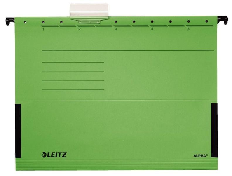 Závěsné desky Leitz ALPHA s bočnicemi zelené