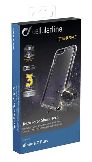 CellularLine ochranné pouzdro TETRA FORCE CASE PRO pro Apple iPhone 7 Plus, černé - zánovní